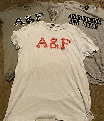 EUC 3 Mens Abercrombie And Fitch T-shirts Size Medium