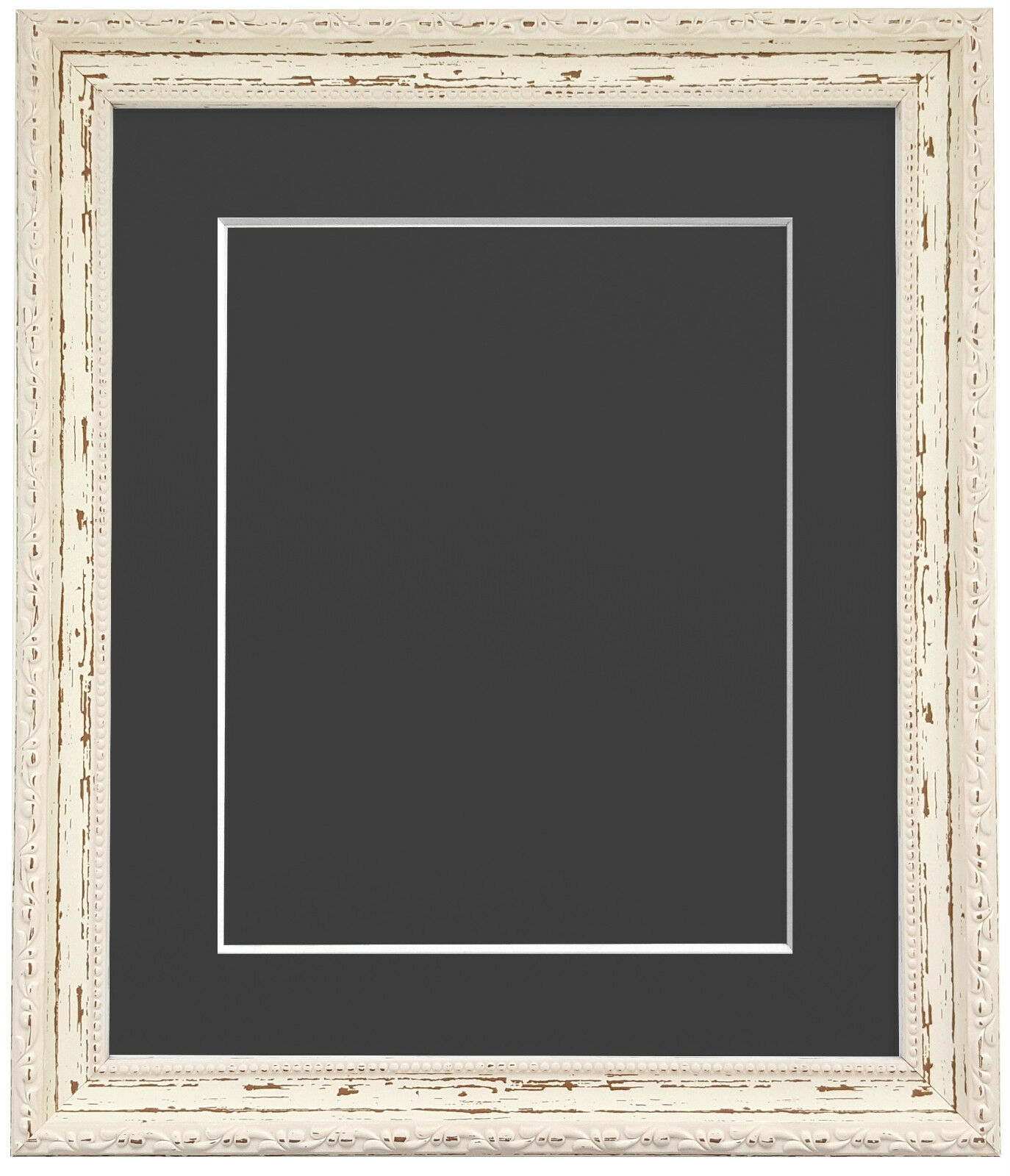 Shabby Chic Distressed White Picture Photo Frames With