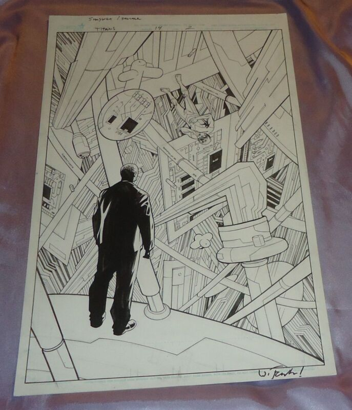 Unzueta TITANS 14 pg 2 CYBORG AND BEAST BOY SUPER SPLASH