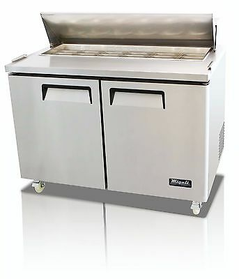 Migali C-sp48-12 Two Door Refrigerated Sandwich Salad Prep Table