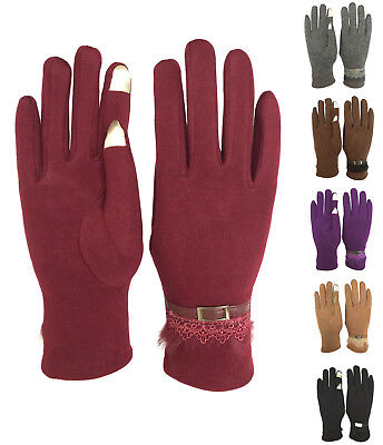 Womens Smart Touch Screen Gloves Windproof Driving Everyday Winter Gloves GL-77