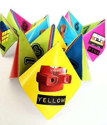 80s Party Table Decorations - 10 Paper Click Clacks - Ready to Make](80s Table Decorations)