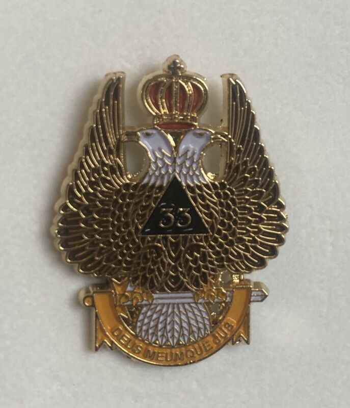 Masonic Rare Scottish Rite 33 Northern Lapel Pin