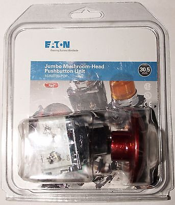 Eaton Cutler Hammer 10250ed1302 4 Red Jumbo E Stop Push Button Kit 10250t33 Pop