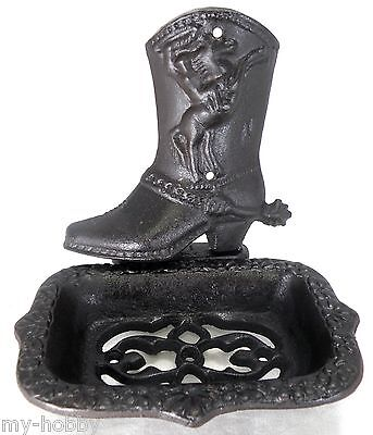(Cast Iron Soap Dish / Business Car Holder with Cowboy Boot)