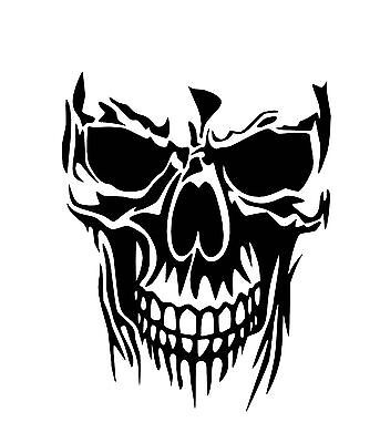Large Skull Car Decal / Sticker