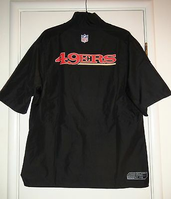 Nike NFL San Francisco 49ers Hot 1/4 Zip Short Sleeve Pullover Sideline Jacket
