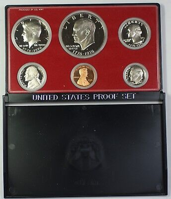 - 1976 US Mint Clad Bicentennial Proof Set Gem Coins as Issued