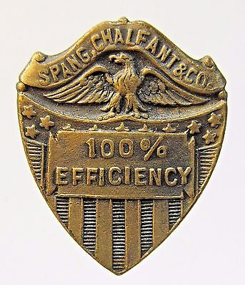 WWI SPANG CHALFANT & CO. 100% EFFECIENCY collar lapel stud +