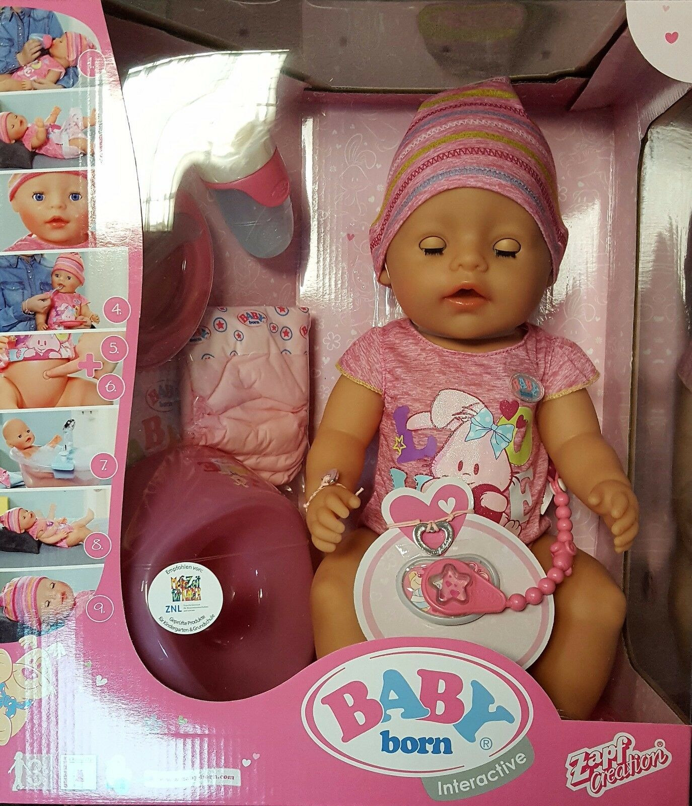 купить Zapf Creation Baby Born Interactive Puppe Mädchen 43cm на