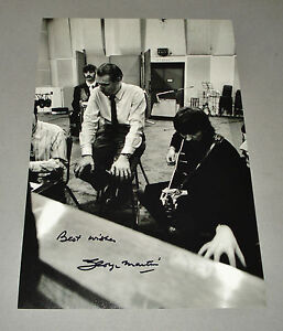 Sir-George-Martin-SIGNED-12x8-Photo-The-Beatles-Autograph-Music-Memorabilia-COA