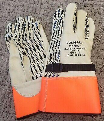 Linemans Leather Protector Gloves - High Voltage