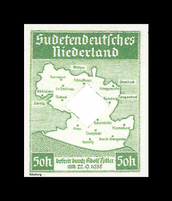 Sudetendeutsches Niederland ungezähnt  Mi. I-III (*)Fälschung, REPRINT