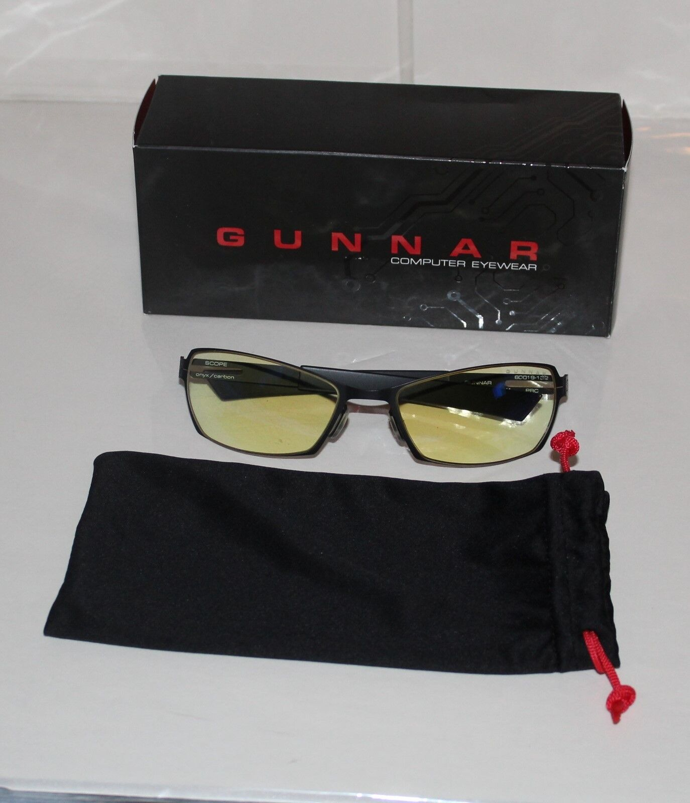 Gunnar Optiks Scope Computer Glasses SCP-04301 Onyx/Carbon - Amber Lens