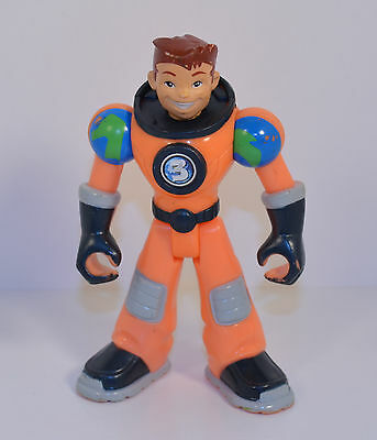 "2006 Earth Ace 5"" Orange Suit #3 Planet Heroes Fisher-Price Mattel Action Figure"