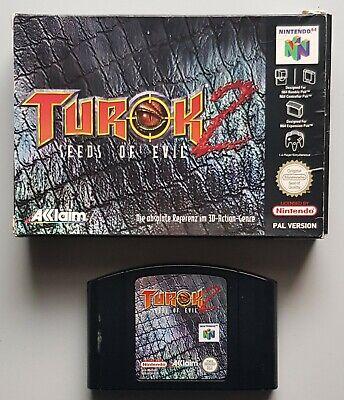 Turok 2 - Seeds of Evil für das N64 mit Verpackung, ohne Anleitung, PAL