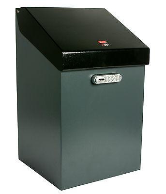 iBin Classic Parcel Delivery Box  /  iBin Postal Courier Box - Colour Grey-Black