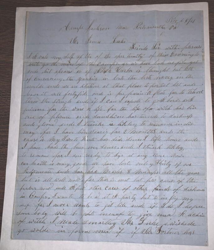 3 Confederate Letters (1861) Written To James Luke In Wilcox, GA.