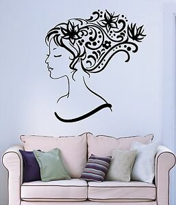 Wall sticker vinyl decal sexy girl abstract hair salon for Abstract beauty salon