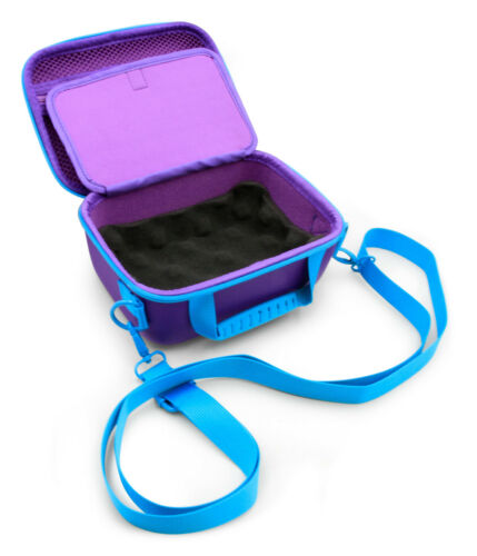 Travel Case for Square Terminal Reader and Accessories, Purple & Teal Case Only