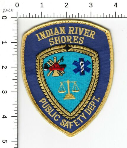 INDIAN RIVER SHORES PUBLIC SAFETY DEPARTMENT POLICE PATCH FLORIDA FL