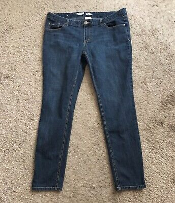 Preppy School Supplies (MOSSIMO SUPPLY CO Womens Size 17 Short Slim Skinny Denim Blue Jeans Low Rise)