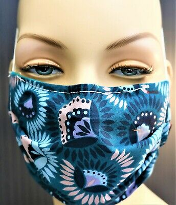 FREE FILTERS,FLOWERS,FACE MASK,CLEAN,FIT,US,BEST HAND MADE USA,COTTON,REUSABLE,  Handmade Clean Cotton