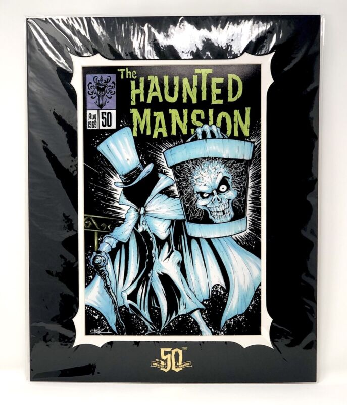 Disney The Haunted Mansion #50 Hatbox Ghost Art Print 20x16 By Brian Crosby NEW