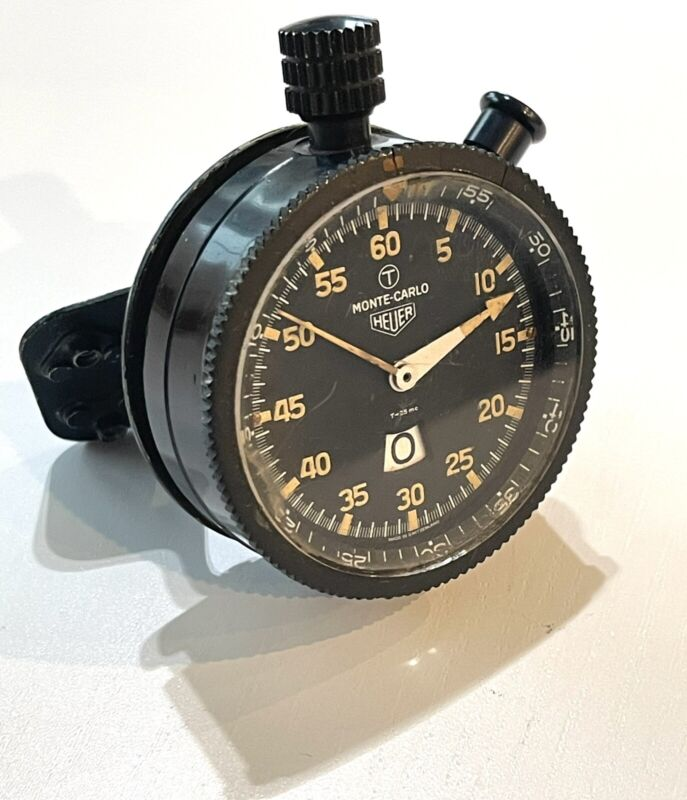 Heuer Monte Carlo Rally Dash Timer Stopwatch Vintage AS-IS