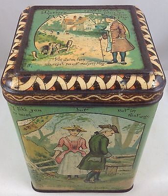 THE COOPERATIVE WHOLESALE SOCIETY  MARJORY MAY  RARE BRITISH BISCUIT TIN c1887 - Wholesale Tins