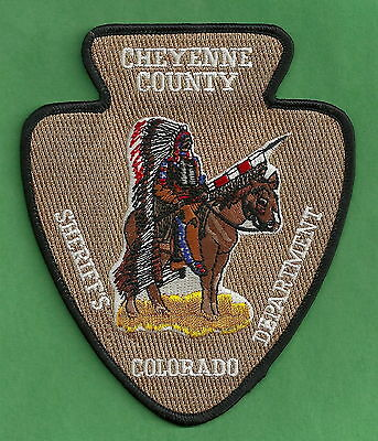 CHEYENNE COUNTY SHERIFF COLORADO POLICE PATCH INDIAN!