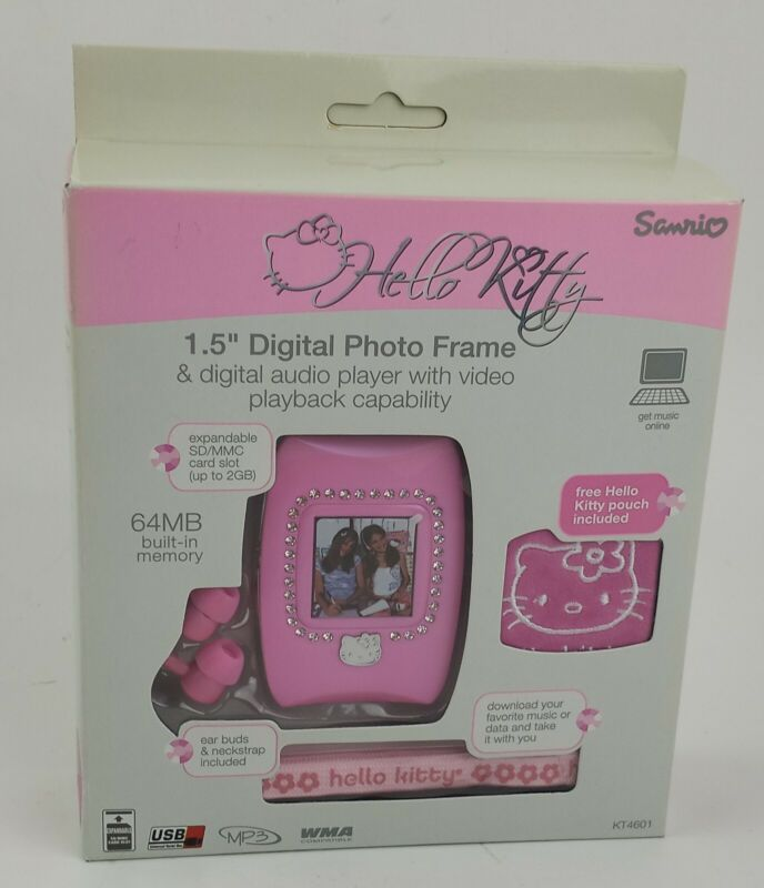 "Hello Kitty 1.5"" Digital Photo Frame MP3 Audio Player with Video Playback"