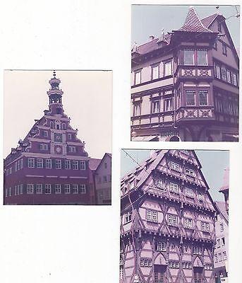 5/473  FOTO 3 x ESSLINGEN  MIT FARBSTICH  1984 FACHWERK