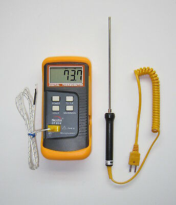 K-type Digital Thermometer W Stainles Probe Lead Bullet Casting Melting Pot Tc-3