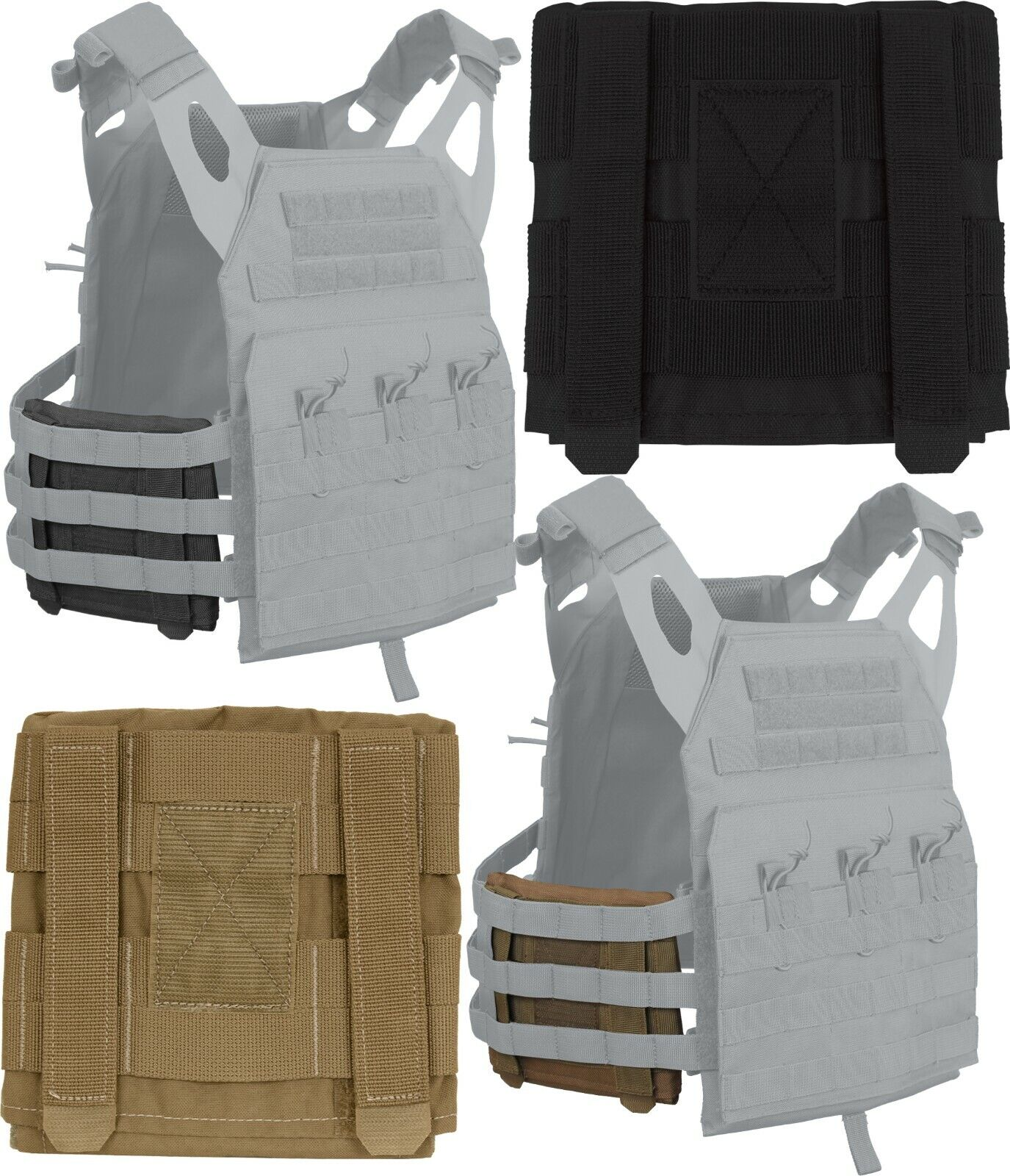 Side Armor Pouch Set for Tactical Lightweight Armor Plate Carrier Vest LACV Hunting