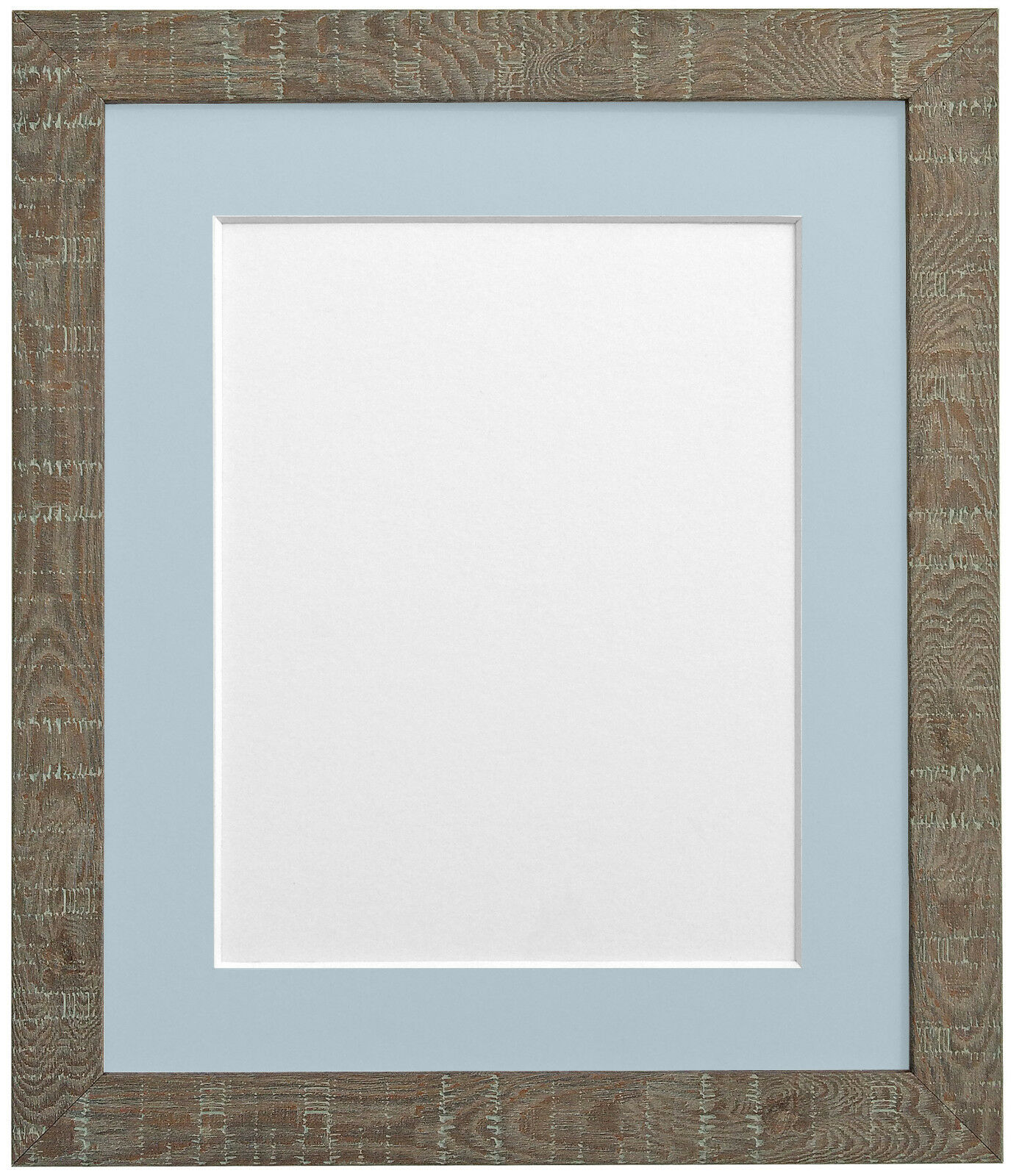 Deep Grain Medium Brown Picture Photo Frames with choice of 7 mount colours