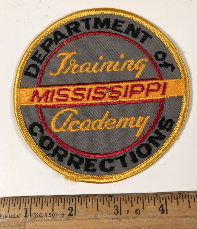 Vintage Mississippi Department Of Corrections Patch Training Academy Police