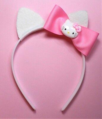 HELLO KITTY HEADBAND WITH PINK -COSTUME,GIRL,CHILD,TEEN,ADULT -HANDMADE](Hello Kitty Girl Costume)