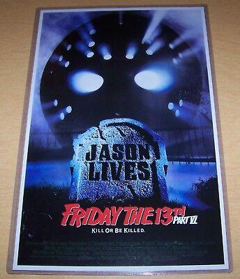Friday the 13th Part VI Jason Lives Jason Voorhees 11X17 Original Movie Poster
