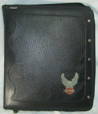 Vintage Harley Davidson Mead 3 Ring Binder With Pouch