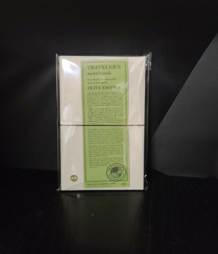 Midori Travelers Notebook Olive Edition Limited Edition New