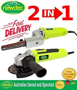 NEW 2in1 ANGLE GRINDER BELT SANDER TOOLS ELECTRIC VARIABLE SPEED Bairnsdale East Gippsland Preview