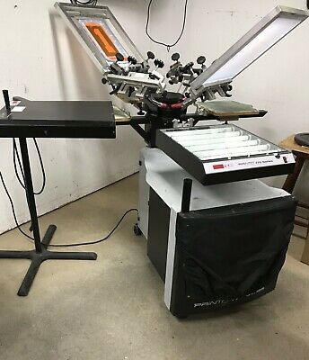 Printa 770 Deluxe Screen Printing System 4 Station 4 Colordual Pin Registration