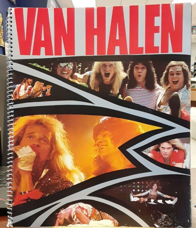 VAN HALEN 1984 TOUR SPIRAL CONCERT PROGRAM BOOK EDDIE, DAVE, ALEX, MIKE - EXCELL