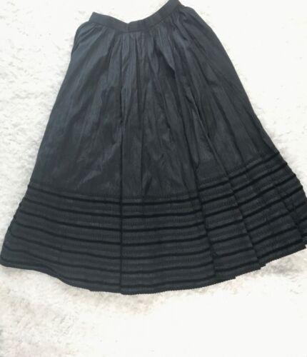 Edith Moser Dirndl Trachten Style German 100% Silk Skirt Sz 38 Made in Austria