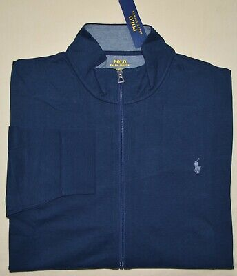 New 3XB 2XLT 3XLT POLO RALPH LAUREN Track Jacket cardigan Mens 3XL 2XL TALL 2XT
