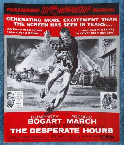 VINTAGE - THE DESPERATE HOURS  - ORIG 1956 PARAMOUNT PRESSBOOK - HUMPHREY BOGART