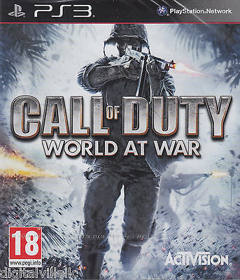 Call Of Duty World At War Ps3 Sony Playstation 3 Brand New Factory Sealed Cod