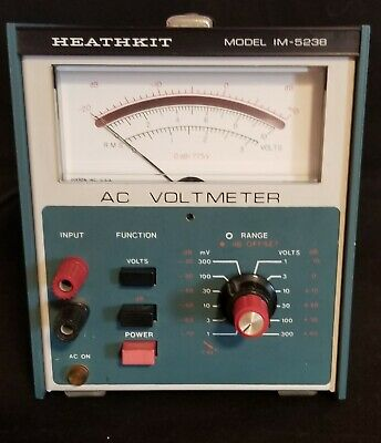 Heathkit Model Im-5238 Ac Voltmeter Euc Voltage Meter Vintage Radio Testing