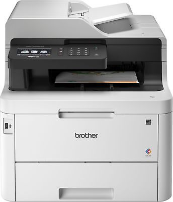 Brother - MFC-L3770CDW Wireless Color All-In-One Printer - White (Brother Printers Wireless)